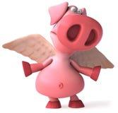 Porc de vol Image libre de droits