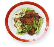 Porc deux fois cuit, nourriture chinoise Image libre de droits