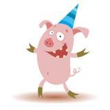 Porc drôle Photos libres de droits