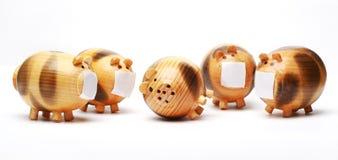 Porc en bois Image stock