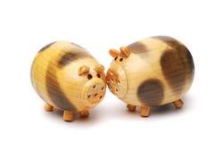 Porc en bois Image libre de droits
