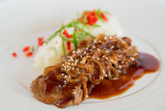 Porc en sauce aigre-doux Photo stock