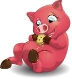 Porc et biscuits illustration de vecteur