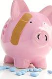 Porc et pillules Image stock