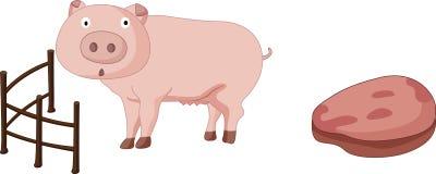 Porc et porc illustration libre de droits