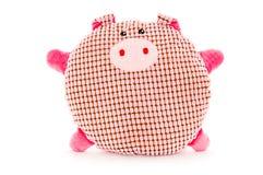 Porc fabriqué à la main drôle de peluche Photographie stock