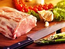 porc frais cru images stock