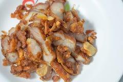 Porc frit avec l'ail Images stock