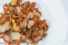Porc frit avec l'ail Image libre de droits