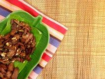 Porc frit dans un plat Photos libres de droits