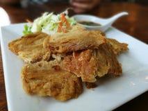 Porc frit par nourriture épicé Image libre de droits