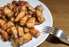 Porc frit salé, style thaïlandais Photos libres de droits