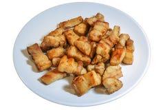 Porc frit salé, style thaïlandais Photos stock