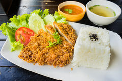 Porc frit (Tonkatsu) Images libres de droits