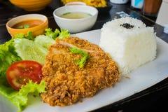 Porc frit (Tonkatsu) Photos stock
