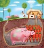 Porc futé Images stock