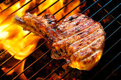 Porc grillé Photographie stock