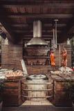 Porc grillé, lapin rôti, agneau traditionnel, gril chaud de tandoor Paraboloïdes chauds de viande image stock