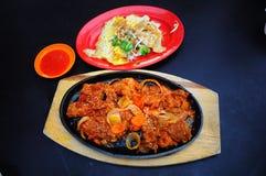 Porc grillé par Chinois Photo libre de droits