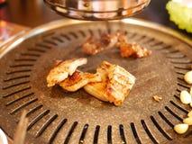 Porc grillé par Coréen Image libre de droits