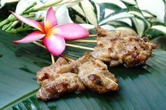 Porc grillé par type thaï traditionnel Image libre de droits