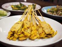 Porc grillé Satay Photo stock