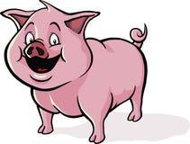 Porc heureux de dessin animé Images libres de droits