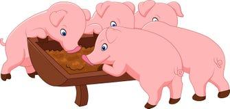 Porc heureux de ferme illustration libre de droits