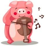 Porc jouant le violon illustration libre de droits