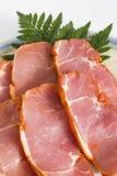 Porc ou jambon coupé en tranches Image libre de droits
