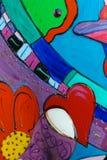 Porc peint sur le défilé, Seattle photos libres de droits