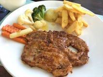 Porc populaire superbe de bifteck de nourriture délicieux Photos stock