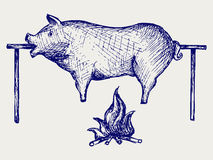 Porc rôti Images libres de droits