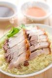 Porc rôti par Chinois savoureux Photographie stock