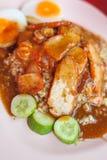 porc rouge avec du riz Photo libre de droits