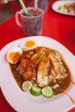 porc rouge avec du riz Image libre de droits