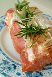 Porc roulé Photo stock