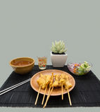 Porc satay Images stock