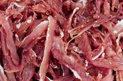 Porc sec sur le marché Photo stock