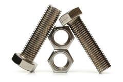 Porcas de aço - e - parafusos Imagens de Stock Royalty Free