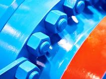 Porcas de parafuso azuis imagens de stock