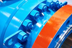 Porcas de parafuso azuis fotografia de stock