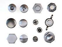 Porcas - e - parafusos Imagens de Stock