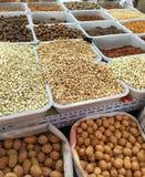 Porcas e sementes oleaginosas Fotografia de Stock
