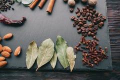 Porcas, especiarias e alimento Foto de Stock