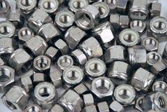 Porcas - metal e ferramentas Foto de Stock