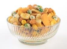 porcas ou amendoins da mistura em um fundo Foto de Stock