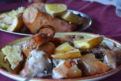 Porceddu - plato sardo tradicional del cerdo Imágenes de archivo libres de regalías