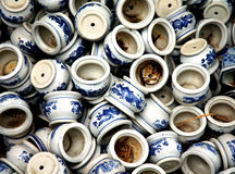 Porcelain. Many Chinese porcelain in a garden in Sichuan Royalty Free Stock Image