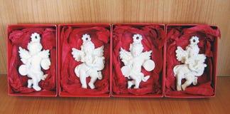 Porcelain angels , Christmas. Stock Photos